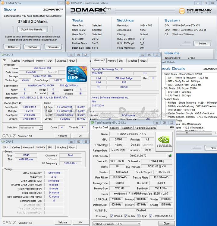 05 EVGA Geforce GTX470 Overclocking Review