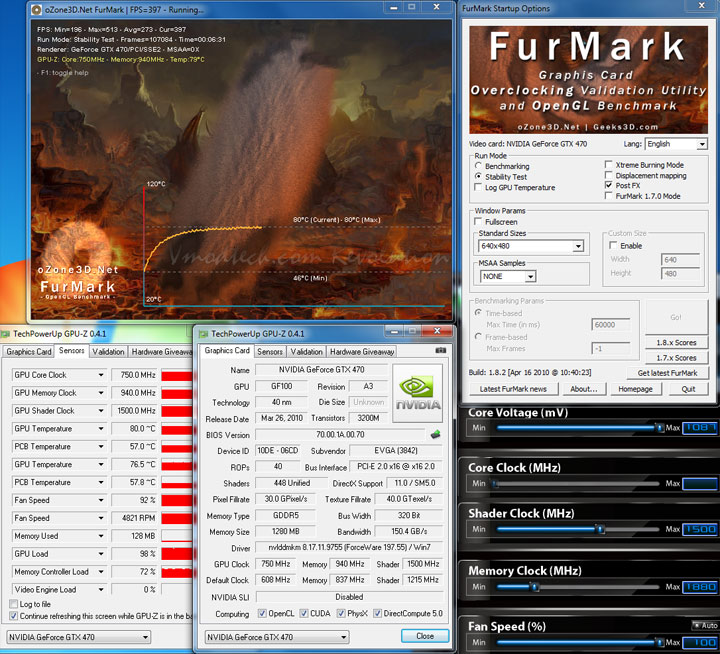 fur oc resize EVGA Geforce GTX470 Overclocking Review