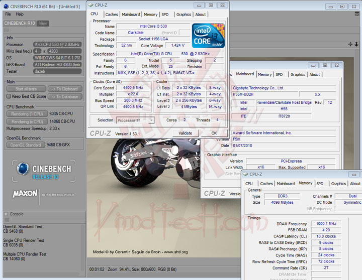 cbr10 GIGABYTE GA H55M UD2H : Review