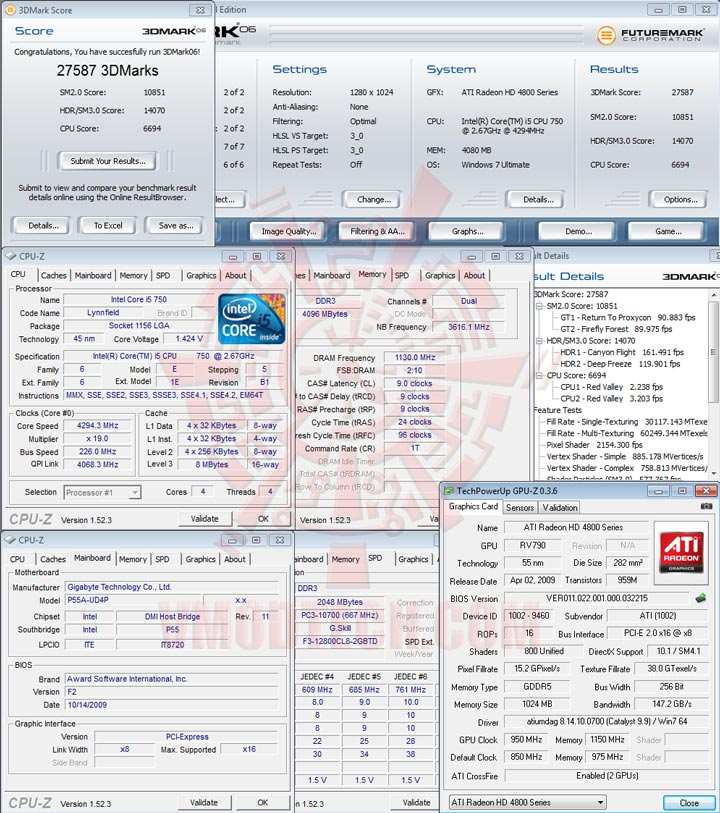 06 GIGABYTE GA P55A UD4P Full Benchmark Review