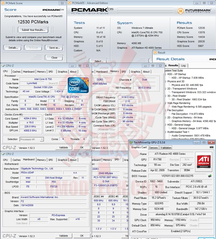 pcm05 GIGABYTE GA P55A UD4P Full Benchmark Review