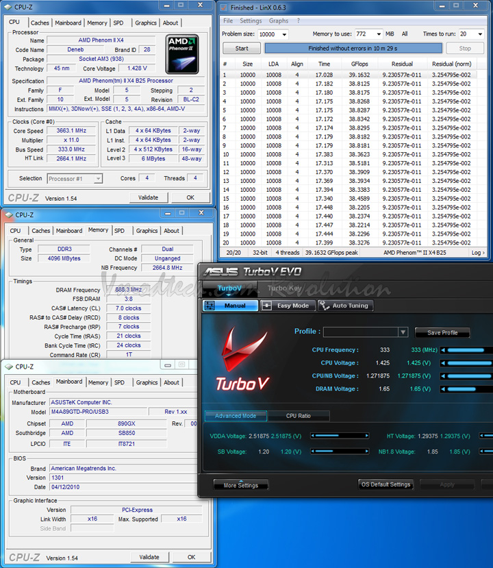 333 linx ASUS M4A89GTD PRO/USB3 Motherboard Review