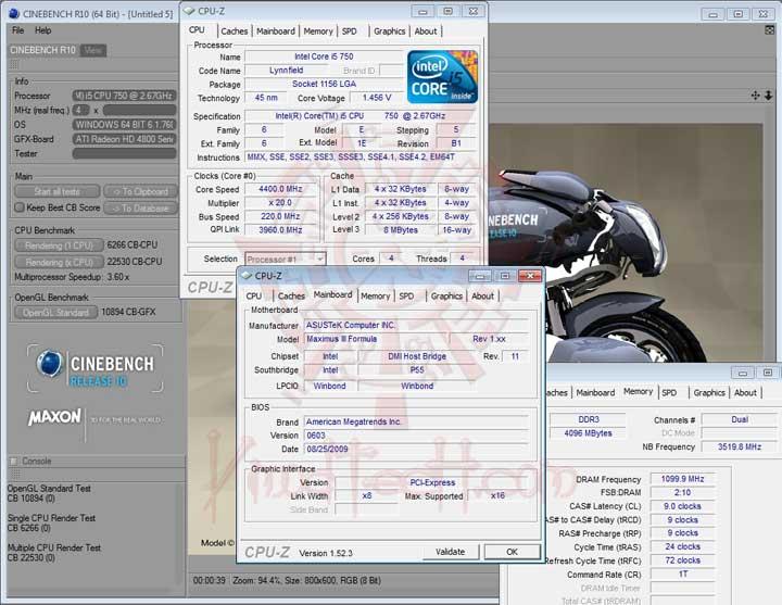 cb10 220 ASUS MAXIMUS III FORMULA Overclocking Test
