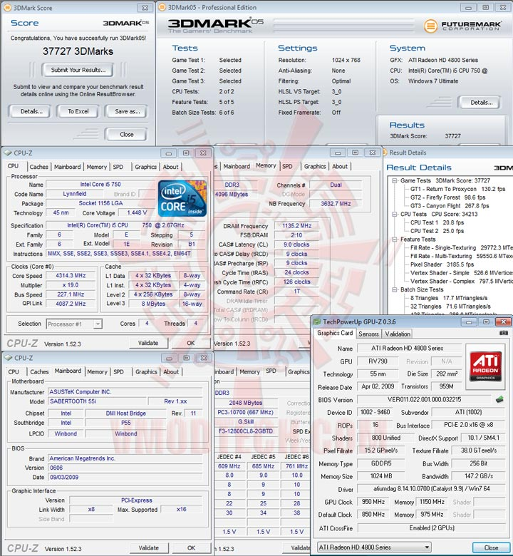 3d05 ASUS SABERTOOTH 55i Full Benchmark Review