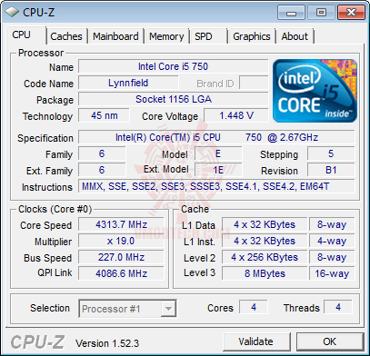 cpuz1 ASUS SABERTOOTH 55i Full Benchmark Review