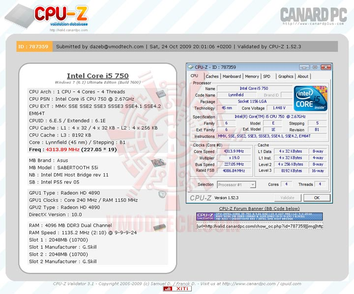 validate ASUS SABERTOOTH 55i Full Benchmark Review