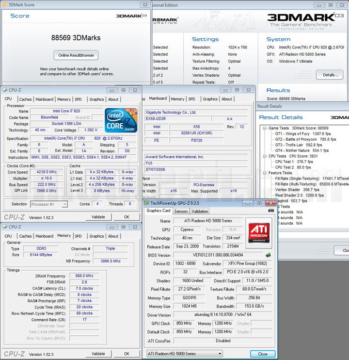 03 1 XFX ATI Radeon HD5870 DX11 Graphic Card Review (CrossfireX)