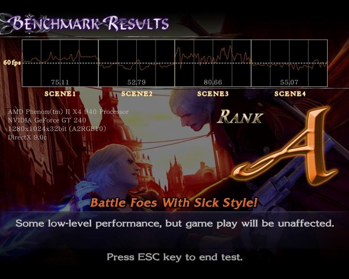 devilmaycry4 benchmark MSI N240GT OC Edition