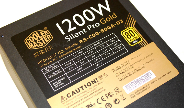 dsc 0515 Cooler Master Silent Pro Gold 1200W Preview