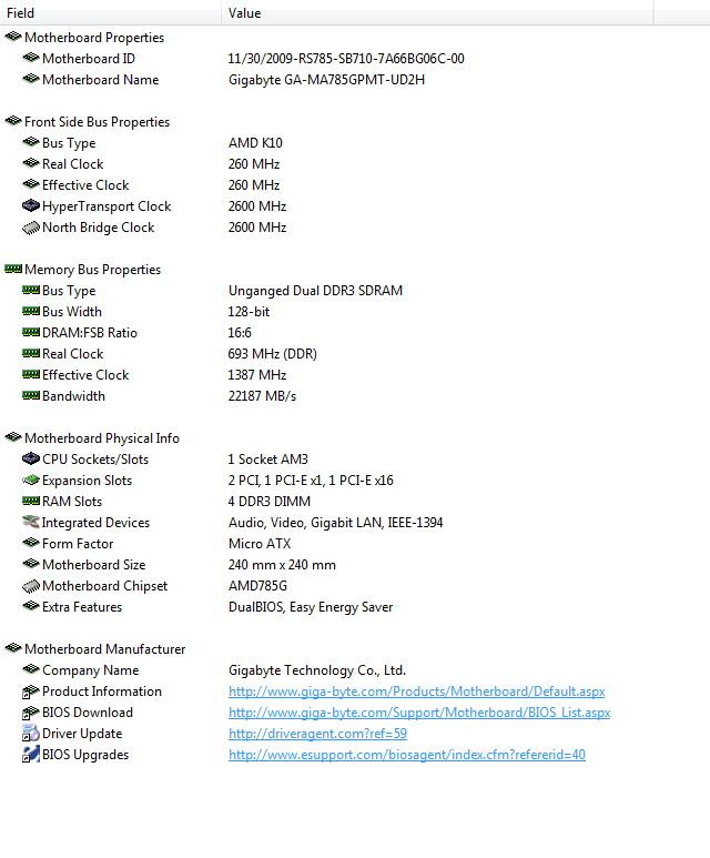 es3 AMD  Phenom II 545 @ 4 Cores !!!