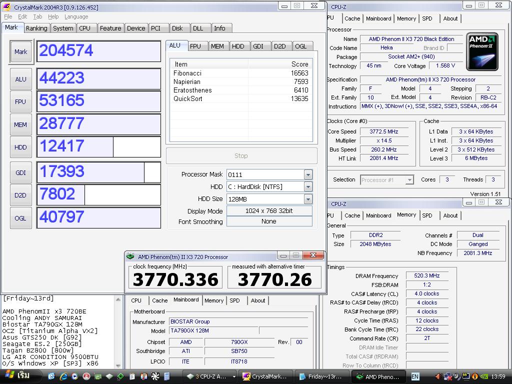 12 x3 260x145 crystalmark 204574 แกะกล่อง Review Biostar TA790GX 128M