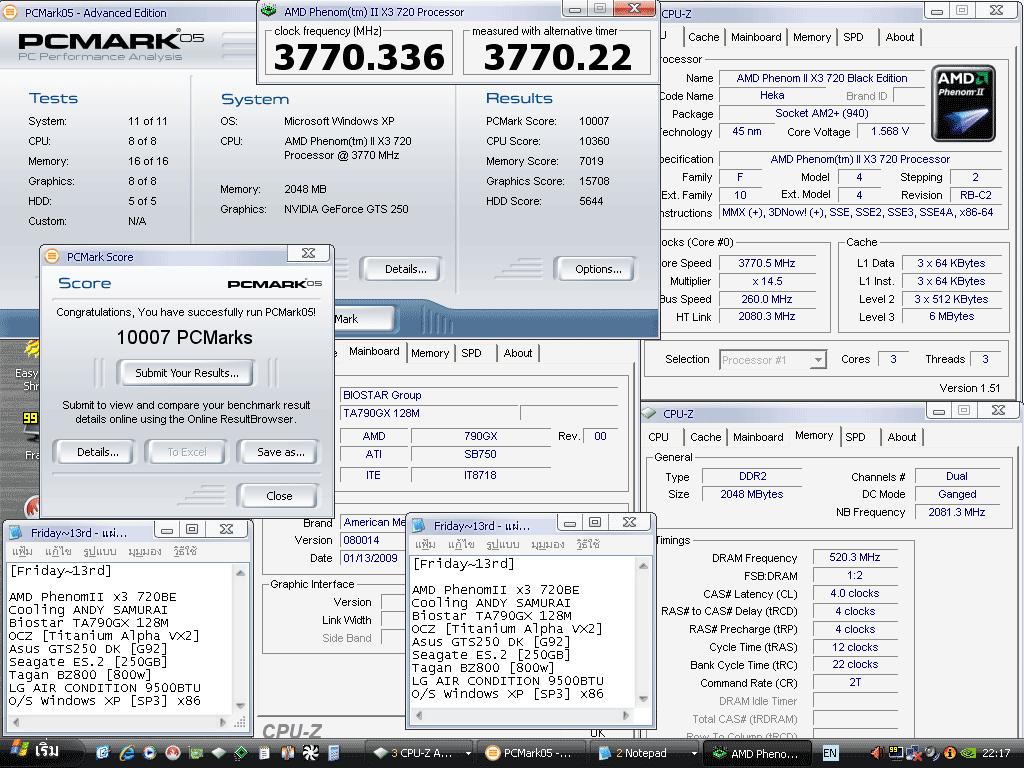 13 x3 260x145 pcmark05 10007 แกะกล่อง Review Biostar TA790GX 128M