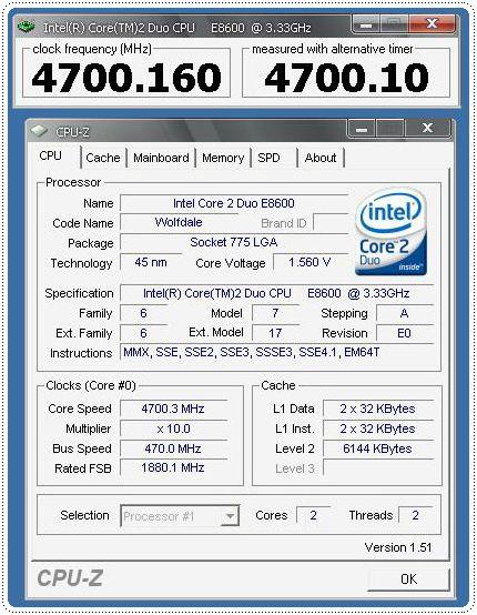 1 e86oo 470x10 155v info cpuz cpu CPU Group Test สำหรับคอเกมส์ฯ