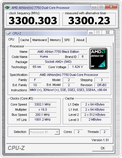 1 x2 7750be 33ghz info cpuz cpu CPU Group Test สำหรับคอเกมส์ฯ