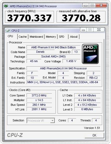 1 x4 phenomii 940be 260x145 147v info cpuz cpu CPU Group Test สำหรับคอเกมส์ฯ