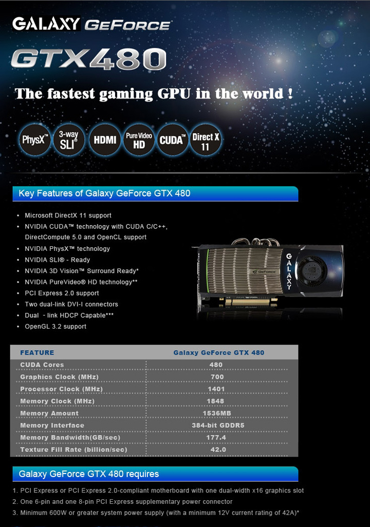 galaxy info GALAXY nVidia Geforce GTX480 : Review