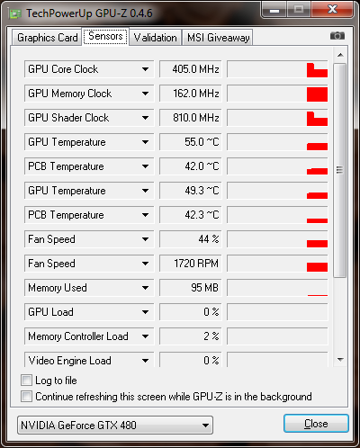 gpuz 02 GALAXY nVidia Geforce GTX480 : Review