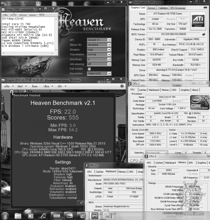 default dx11 heaven 22 689x720 Gigabyte ATi HD5770 1GB DDR5 Silent Cell Review