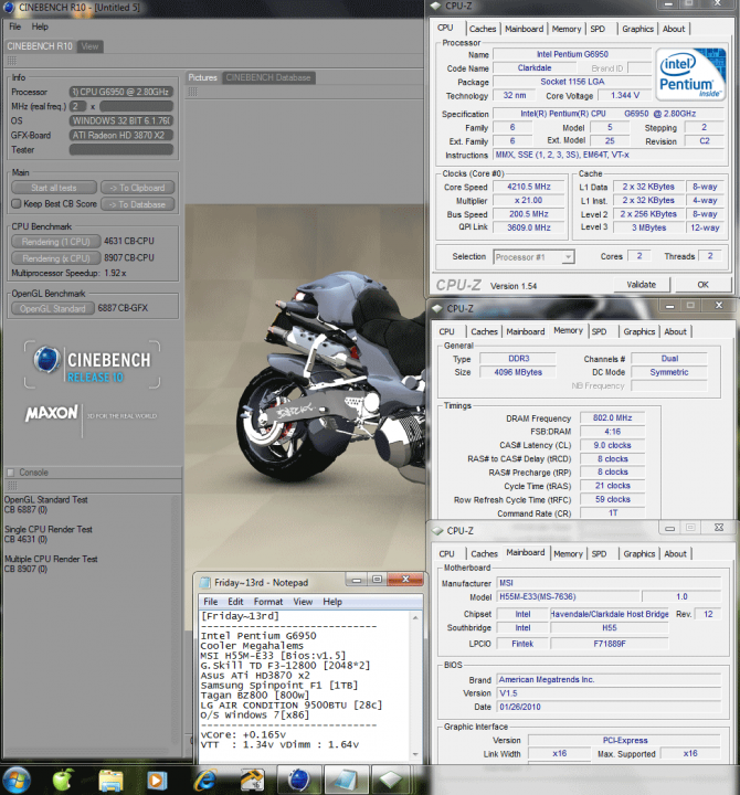 11 201x21 0165v 80298821cinebench r10 670x720 MSI : H55M E33  [Review]