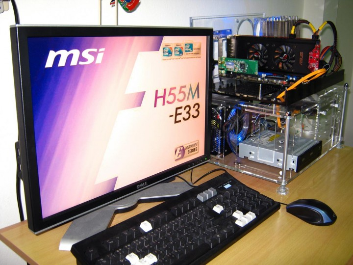 system test 720x540 MSI : H55M E33  [Review]