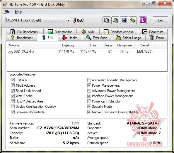 12 ssd ocz infohdtunepro OCZ Vertex2 SSD SATAII 120GB