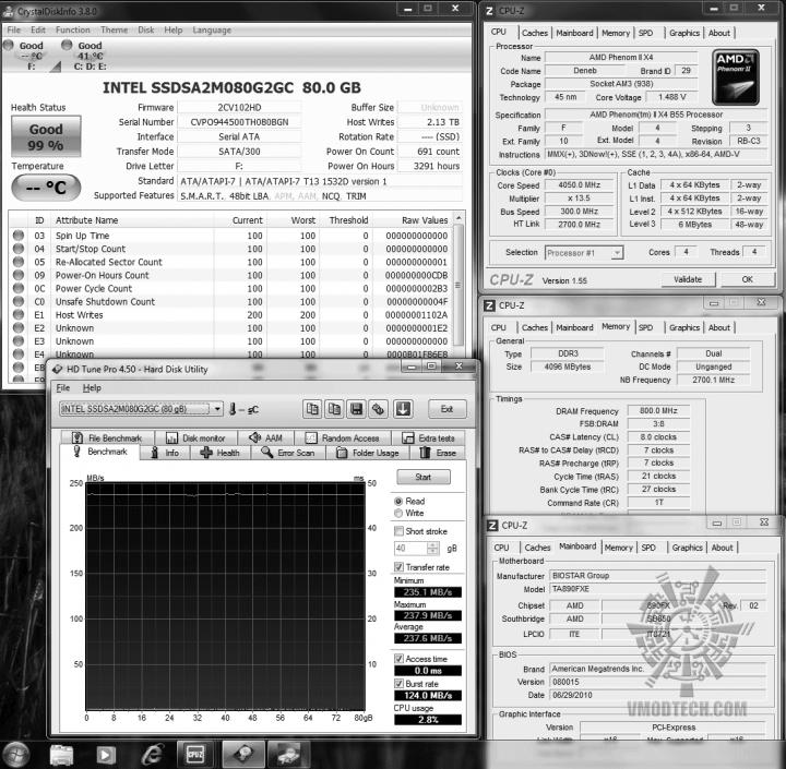 23 ssd intel hdtune read 2376 02 720x705 OCZ Vertex2 SSD SATAII 120GB