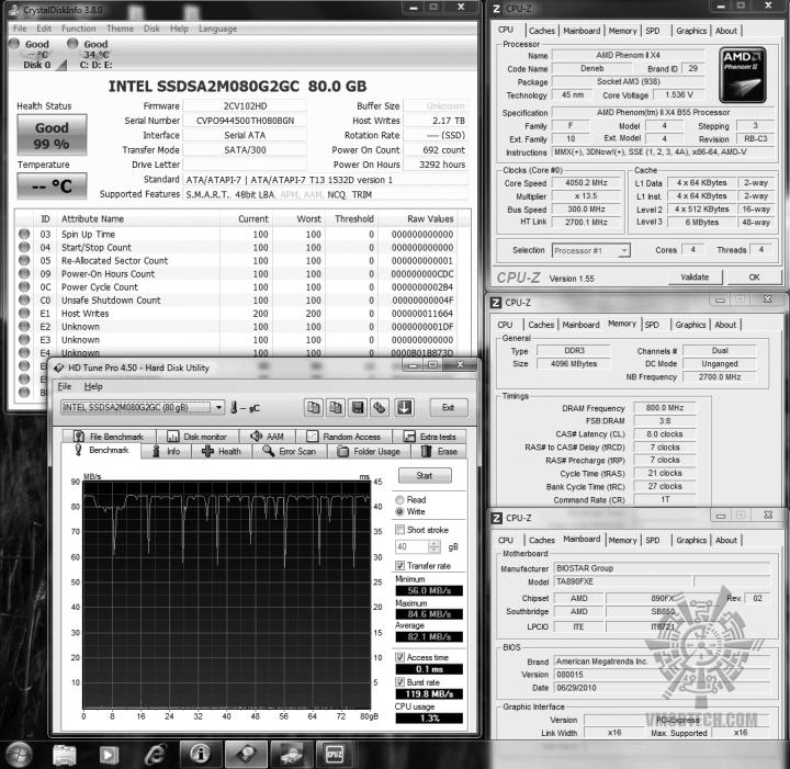 24 ssd intel hdtune write 821 02 720x701 OCZ Vertex2 SSD SATAII 120GB