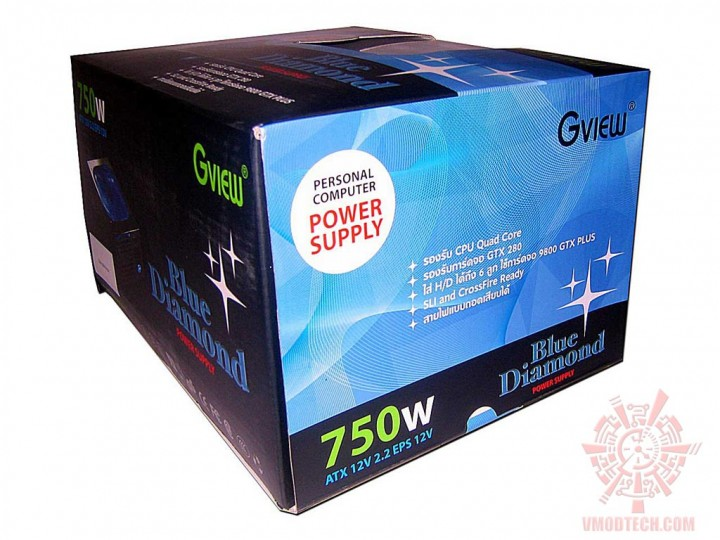 gview bluediamond 01 720x540 PSU : Gview Blue Diamond 750w