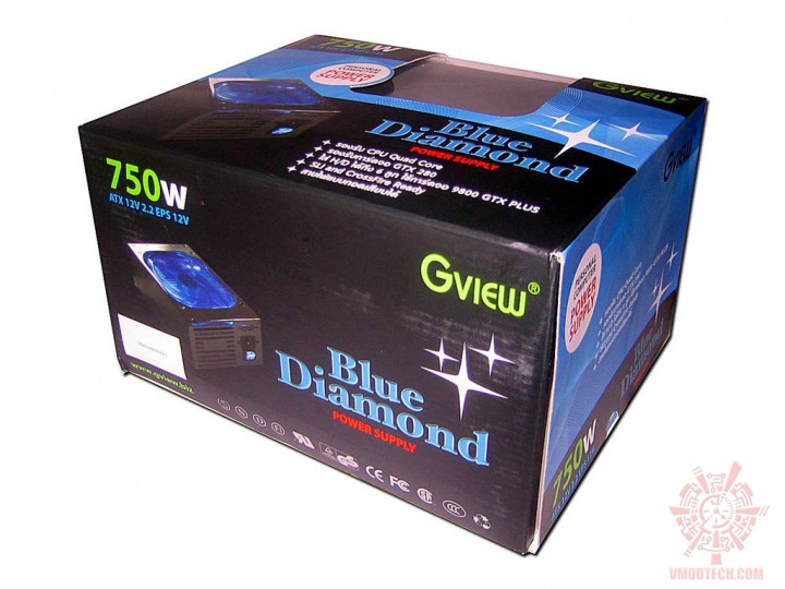 gview bluediamond 03 720x540 PSU : Gview Blue Diamond 750w