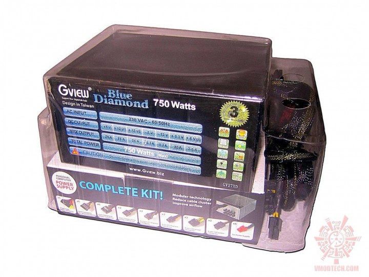 gview bluediamond 04 720x540 PSU : Gview Blue Diamond 750w