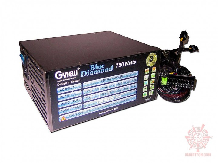 gview bluediamond 07 720x540 PSU : Gview Blue Diamond 750w