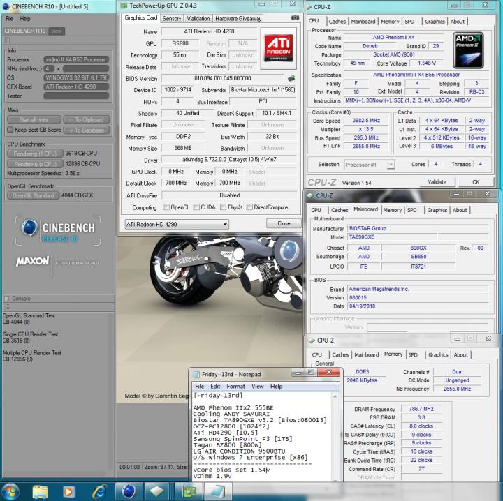 11 295x135 cinebenchr10 720x718 Biostar TA890GXE [Ver 5.2]