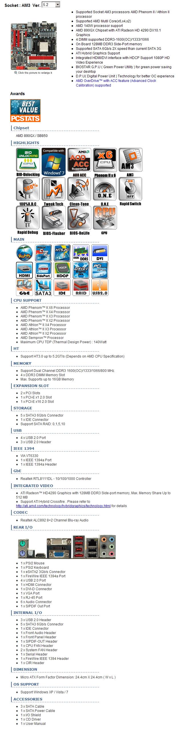ta890gxe specific Biostar TA890GXE [Ver 5.2]