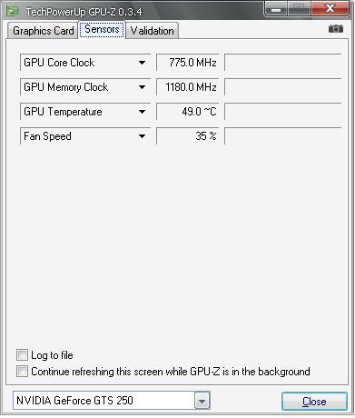 e52oo 45 18585 report gpuz2 Asus อัศวินแห่งรัตติกาล รหัส GTS250 DK 512MB DDR3