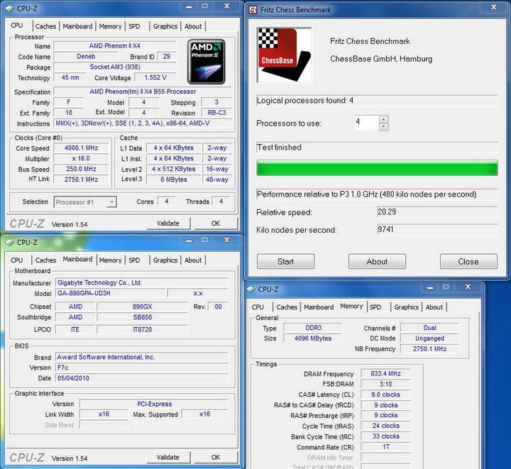 fritz chess8 Gigabyte 890GPA UD3H  Unlock Core