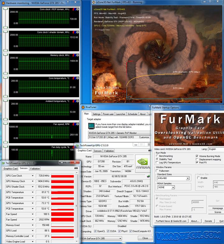 furmark oc resize ASUS MATRIX GTX285 Review