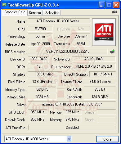 gpuz default ASUS EAH4890 DDR5 Voltage Tweak!!!