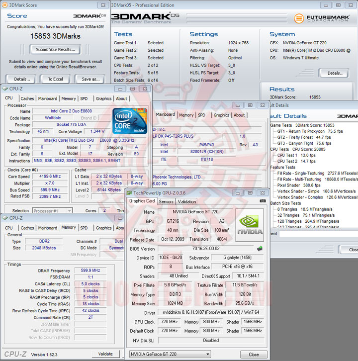 gt220 05 GIGABYTE GT220 1GB DDR3 Review