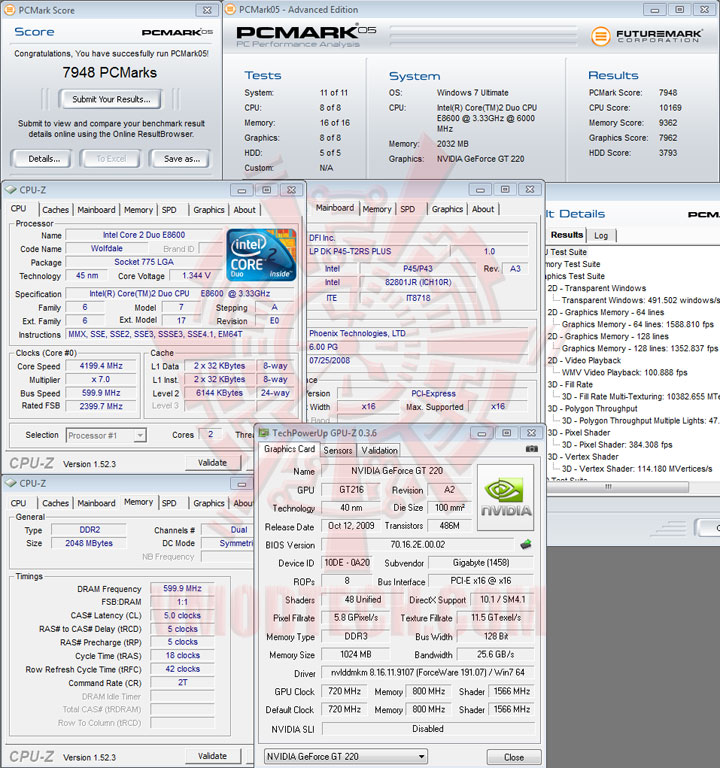 gt220 pcmark05 GIGABYTE GT220 1GB DDR3 Review