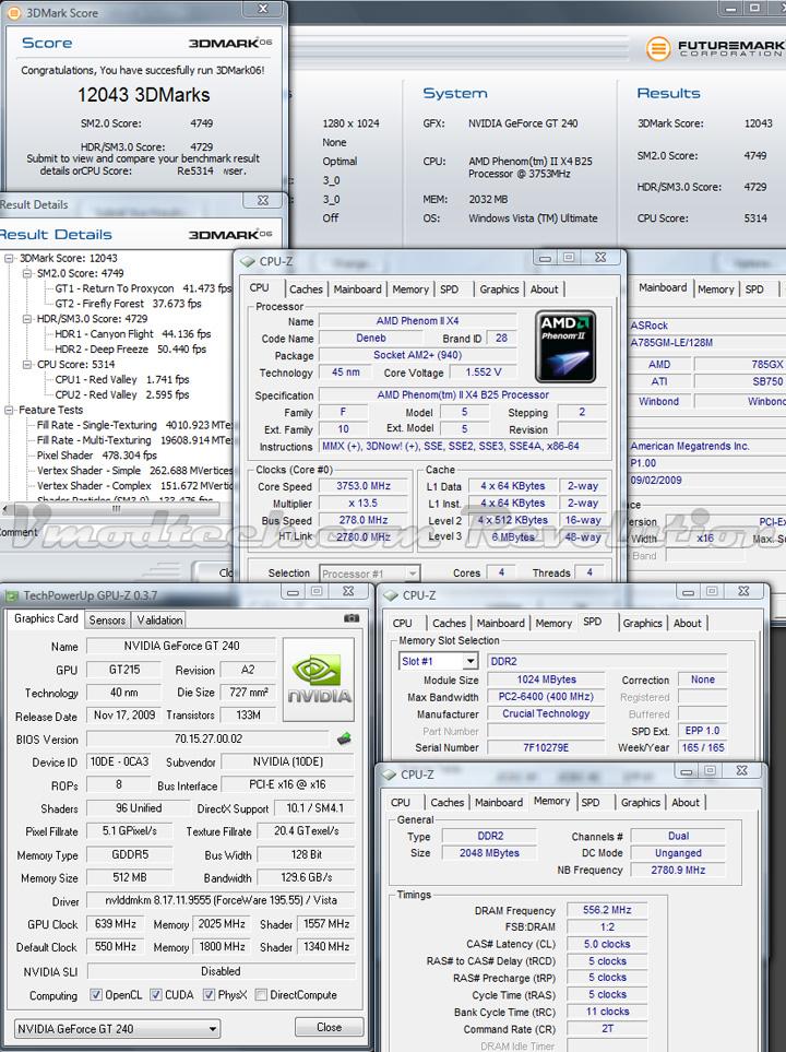 gt240 3d06 oc GALAXY NVIDIA GT240 DDR5 512MB
