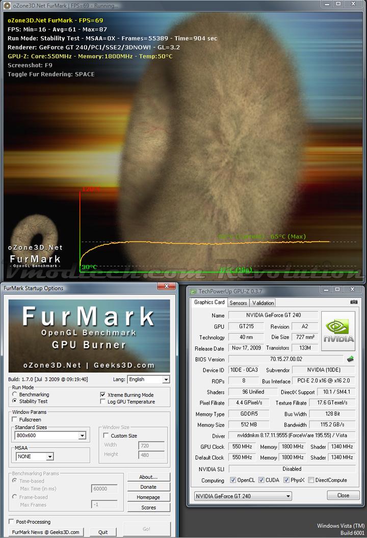 gt240 furmark def GALAXY NVIDIA GT240 DDR5 512MB