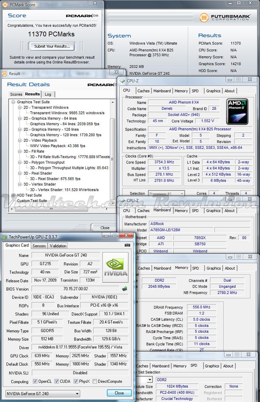 gt240 pcmark05 oc GALAXY NVIDIA GT240 DDR5 512MB
