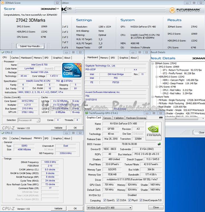 gtx 480 3d06 EVGA Geforce GTX480 Review
