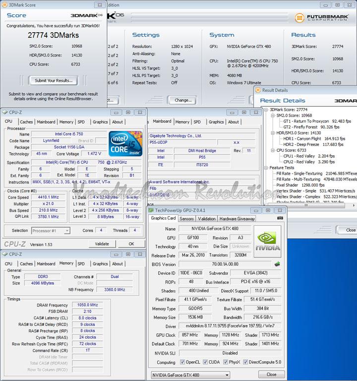gtx 480 3d06 oc EVGA Geforce GTX480 Review