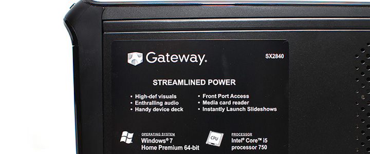 head Review : Gateway SX2840 Desktop PC