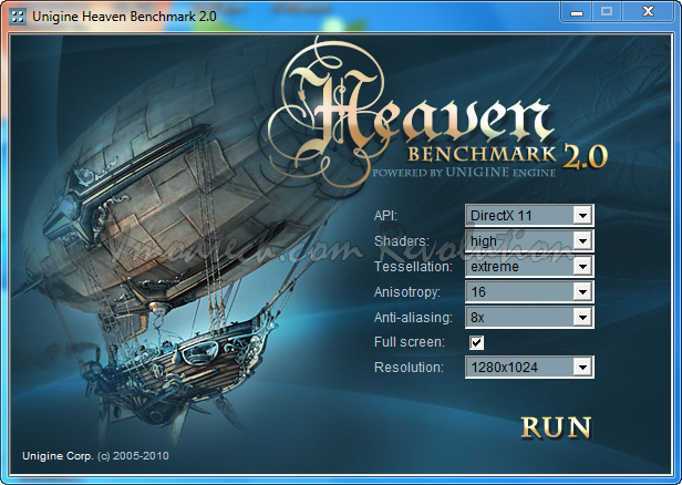 heaven Palit Geforce GTX470 1280MB DDR5 Overclock Test