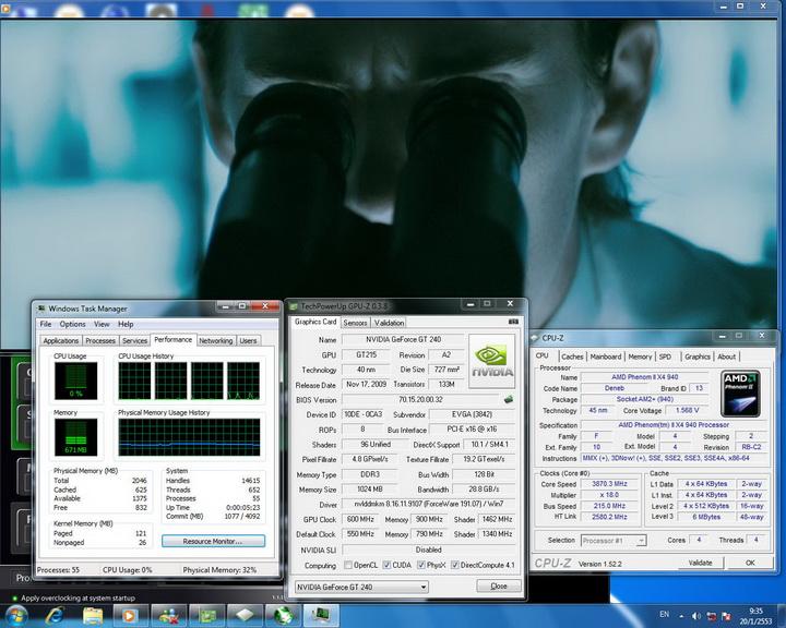 hidef EVGA GT240 1GB DDR3