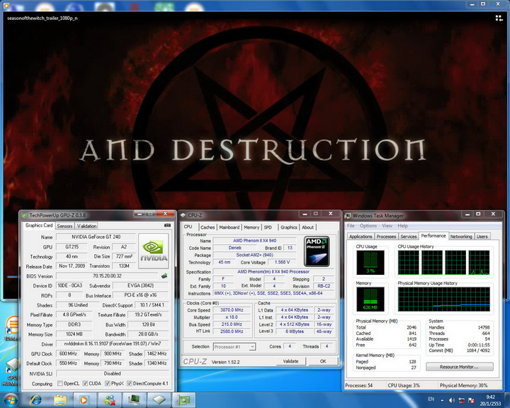 hidef1080 EVGA GT240 1GB DDR3