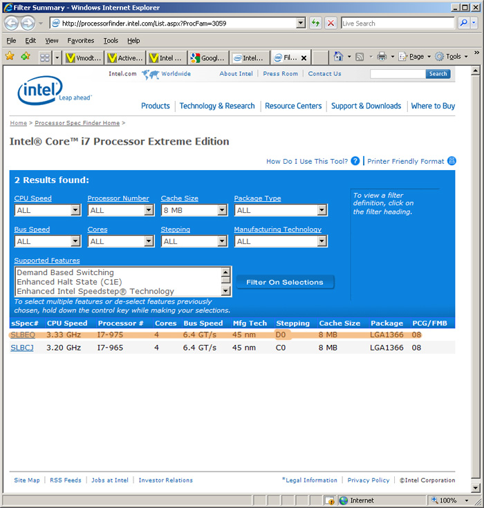 i7 Intel® Core™ i7 975 Extreme Edition : First Review
