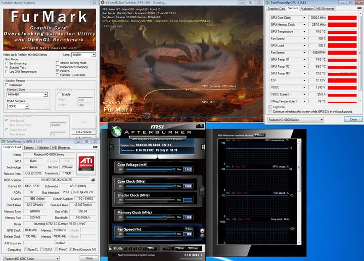 1000mhz 1100 ASUS EAH6850 DirectCU 1GB DDR5